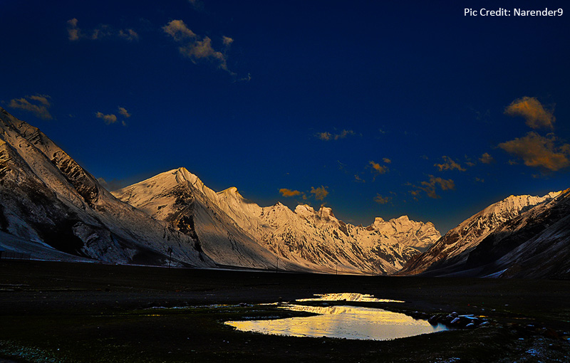 early morning on zanskar mountain range at Rangdum village,Zanskar valley Ladakh India